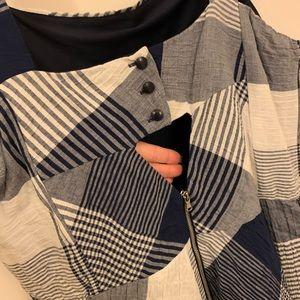 Taylor Dresses - Taylor blue & white plaid dress size 16W